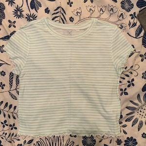 Mint Green Striped Top